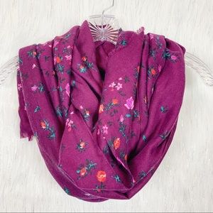 Burgundy floral scarf -Old Navy-tag removed
